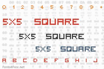 5x5 Square Font