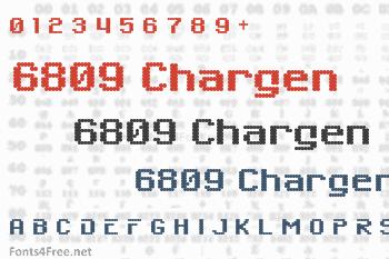6809 Chargen Font