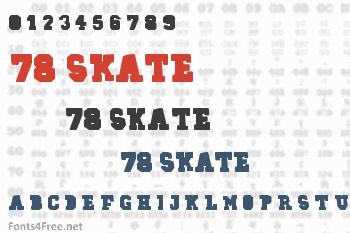 78 Skate Font