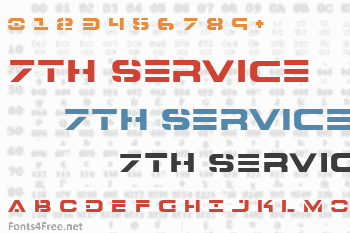 7th Service Font