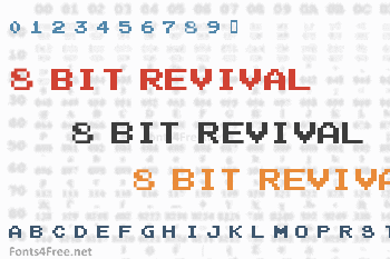 8 Bit Revival Font
