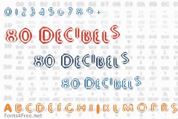80 Decibels Font