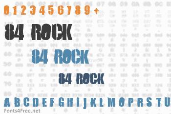 84 Rock  Font