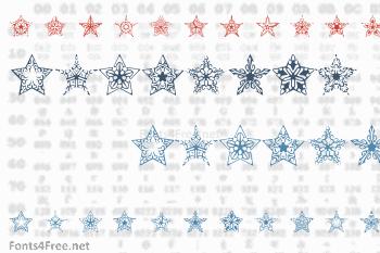 90 Stars Font