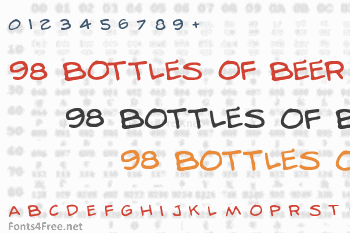 98 Bottles of Beer Font
