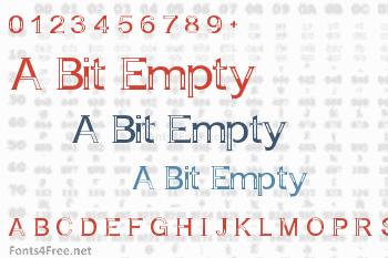 A Bit Empty Font
