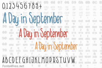 A Day in September Font