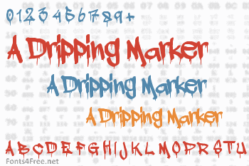 A Dripping Marker Font