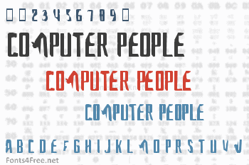 A font for the computer people Font