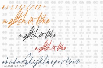 A Glitch In Time Font