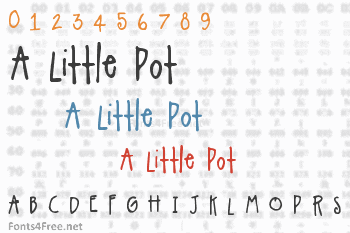 A Little Pot Font