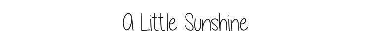 A Little Sunshine Font Preview