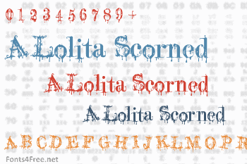 A Lolita Scorned Font