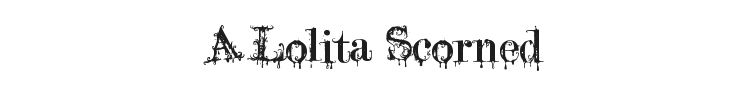 A Lolita Scorned Font Preview