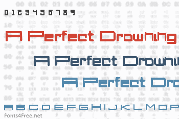 A Perfect Drowning Font