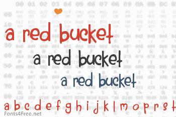 A Red Bucket Font