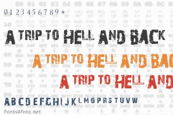A Trip To Hell And Back Font