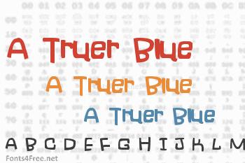 A Truer Blue Font
