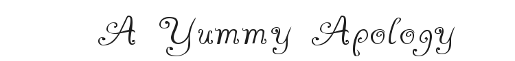 A Yummy Apology Font