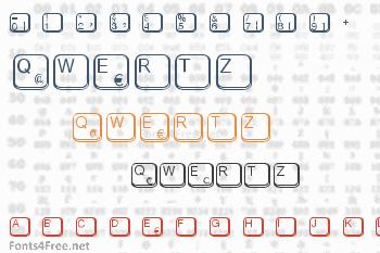 Aa Qwertz-Tasten Font