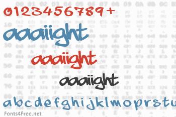 Aaaiight Font