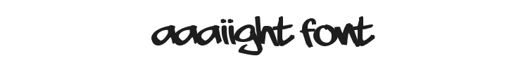 Aaaiight Font Preview
