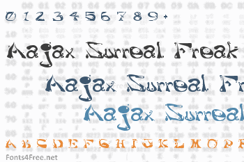 Aajax Surreal Freak Font