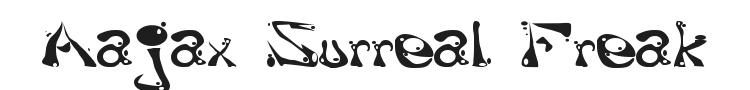 Aajax Surreal Freak Font Preview