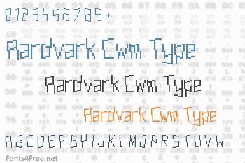 Aardvark Cwm Type Font