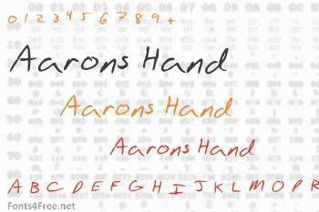 Aarons Hand Font