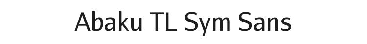 Abaku TL Sym Sans Font Preview