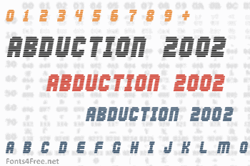Abduction 2002 Font