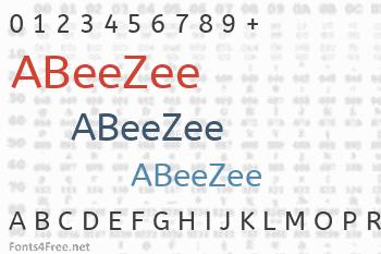 ABeeZee Font