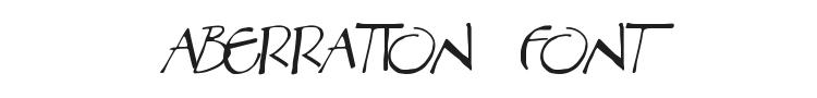 Aberration Font Preview