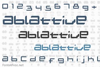 Ablattive Font