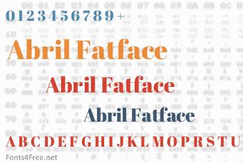 Abril Fatface Font