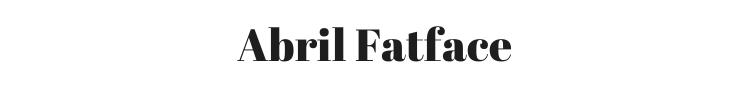 Abril Fatface Font Preview
