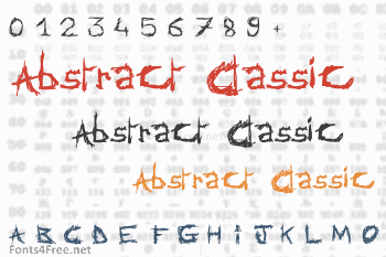 Abstract Classic Font