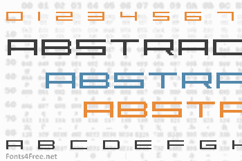 Abstract Font