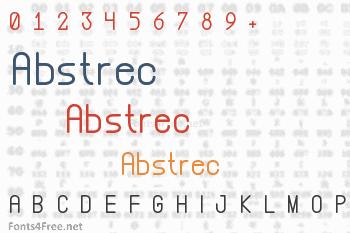 Abstrec Font