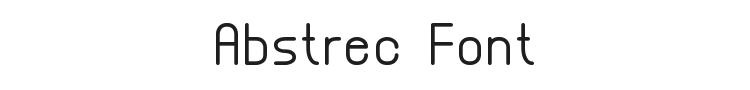 Abstrec Font Preview