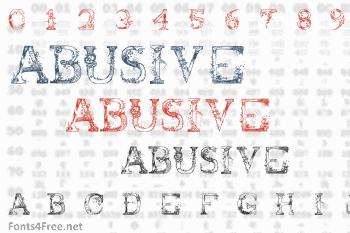 Abusive Pencil Font