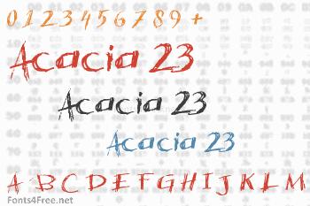 Acacia 23 Font
