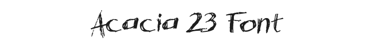 Acacia 23 Font Preview
