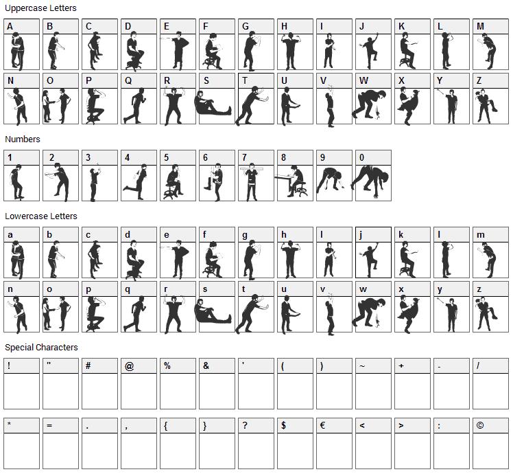 Accion Dingbat Tipografia Font Character Map