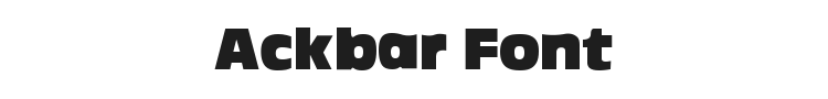 Ackbar Font Preview