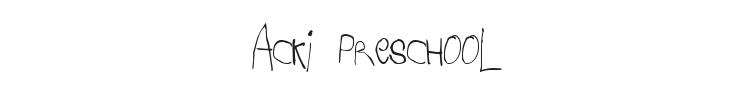 Acki Preschool Font