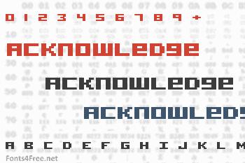 Acknowledge Font
