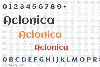 Aclonica Font