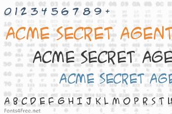 ACME Secret Agent Font